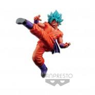 DRAGONBALL Figura Statua 20cm SON GOKU Super Saiyan GOD Blu FES 5 Banpresto