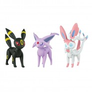 POKEMON Box 3 FIGURES Umbreon + Sylveon + Espeon Original TOMY Battle Play