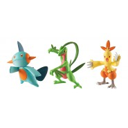 POKEMON Box 3 FIGURE Grovyle + Combusken + Marshtomp Originali TOMY Battle Play