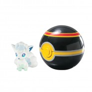 Pokemon VULPIX Alola ALOLAN Figura 4cm + CHICA Luxury POKE BALL Sfera Originali TOMY Carry PokeBall