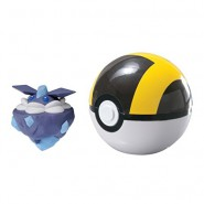 Pokemon CARBINK Figure 4cm + ULTRA POKE BALL Original TOMY Carry PokeBall