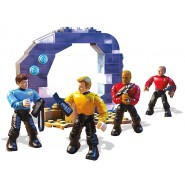 STAR TREK Building Playset GUARDIAN OF FOREVER With 4 Figures KIRK etc. MEGA BLOKS 111 pieces