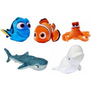 COMPLETE SET 5 Different Plushies FINDIND DORY 15cm Dory Nemo Etc. Original DISNEY