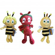 SET 3 Diversi Peluche 23cm APE MAIA Maya Willy Formica Paul ORIGINALI