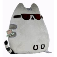 PUSHEEN Pillow Cool Cat, design with sunglasses 14x12x3.5 inch Original and Official