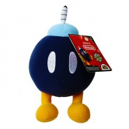 SUPER MARIO Original Plush BOB-OMBA Bomb 18cm Official NINTENDO Soft Toy Peluche