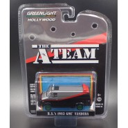 A-TEAM DieCast Model Van GMC VANDURA 1983 RARE CHASE VERSION Green Wheels Scale 1/64 ORIGINAL Greenlight