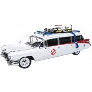 ECTO-1 Modello 30cm Scala 1/18 da GHOSTBUSTERS Cadillac 1959 METALLO DieCast ORIGINALE Autoworld