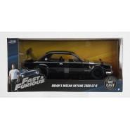 FAST FURIOUS DieCast Model NISSAN SKYLINE 2000 GT-R Black BRIAN Scala 1/24 Original JADA Toys