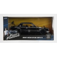 FAST FURIOUS Modello DieCast NISSAN SKYLINE 2000 GT-R Nera di BRIAN Scala 1/24 Originale JADA Toys