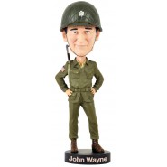 Figure Statue 20cm JOHN WAYNE SOLDIER Bobble Head ROYAL BOBBLES