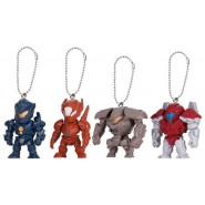 PACIFIC RIM 2 UPRISING Complete Set 4 FIGURES With Dangler SWING MASCOT Gashapon BANDAI