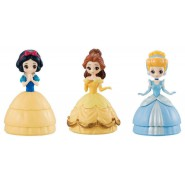 DISNEY Set 3 Figures 12cm PRINCESS Princesses SNOW WHITE CINDERELLA BELLE Original CAPCHARA BANDAI Japan HEROINE DOLL
