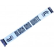 SCARF Original JUVENTUS JJ Black And White Official JACQUARD 140cm