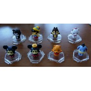 RARE SET 8 Mini Figures DISNEY BABIES CHARACTERS Pencil Cake Toppers TOMY Mickey Pinocchio Eeyoree etc.