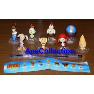 Raro SET 8 Mini Figure Personaggi CHICKEN LITTLE Bobble Head DISNEY Tomy Cake Toppers
