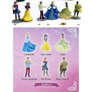 SET 6 Different Mini Figures 4cm PRINCESSES and PRINCES Disney SERIE 2 Original BULLYLAND Princess