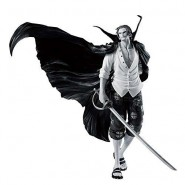 ONE PIECE Figure Statue SHANKS 18cm BLACK WHITE Variant WORLD FIGURE COLOSSEUM Banpresto