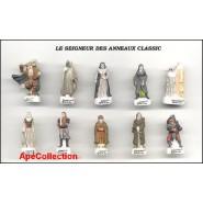 """IL SIGNORE DEGLI ANELLI """"CLASSIC"""" Raro SET 10 Mini Figure IN PORCELLANA Collezione Feves"""
