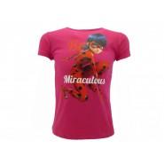 MIRACULOUS LADYBUG T-Shirt Maglietta MARINETTE Fucsia ORIGINALE