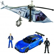 Playset FAST AND FURIOUS Stunt Stars BRIAN and MOSE Car and Helicopter MATTEL FDN74