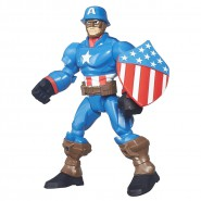 Figura Action 16cm CAPTAIN AMERICA Con Elmetto Marvel SUPER HERO MASHERS Hasbro