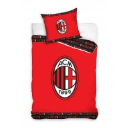 BED SET Duvet Cover MILAN ACM 1899 RED EMBLEM Soccer Team Official ORIGINAL Cotton