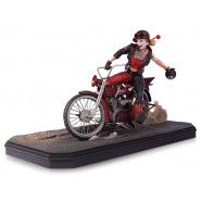 Resin Statue HARLEY QUINN With MOTORCYCLE Gotham Garage Original DC COLLECTIBLES