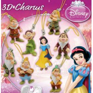 Complete SET 8 Figures SNOW WHITE and 7 DWARFES Disney With DANGLER