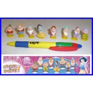 SET Completo 8 Mini Figure BIANCANEVE E I 7 NANI Disney con VENTOSA Originali