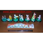 RARO SET Completo 7 Figure Collezione DISNEY ORCHESTRA Band YUJIN Giappone TOPOLINO PLUTO PIPPO etc.