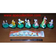 RARE Complete SET 7 Figures DISNEY Band ORCHESTRA Mickey Goofy Pluto Donald Chip Dale Original YUJIN Japan