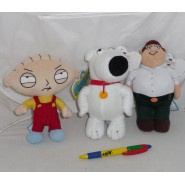 FAMILY GUY Set 3 Different PLUSHIES Soft Toys STEWIE BRIAN PETER 18cm Original