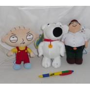 I GRIFFIN Set 3 Diversi PELUCHE Stewie Brian Peter 18cm ORIGINALI Family Guy