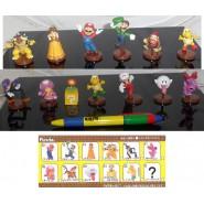 Raro SET COMPLETO 13 Figure Collezione SUPER MARIO CLASSIC Nintendo - Tipo FURUTA Giappone
