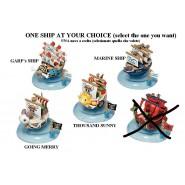 ONE PIECE Modellino NAVE 5cm SCELTA MODELLO Originali MEGAHOUSE Trading Figures SHIPS Serie 1