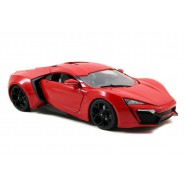 FAST and FURIOUS 7 Model Car LYKAN HYPERSPORT Red Scale 1:18 Original JADA 1/18