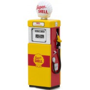 Modellino Die Cast POMPA Benzina SUPER Shell Scala 1:18 Serie VINTAGE GAS PUMP COLLECTION Greenlight Collectibles