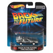 Modello Auto TIME MACHINE 2 da RITORNO AL FUTURO 2 Normal Version DELOREAN 1/64 Hot Wheels FLD13