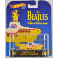 Modellino Metallo YELLOW SUBMARINE Sottomarino BEATLES 8cm ORIGINALE Hot Wheels FLD07