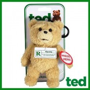 CENSORED GREEN VERSION Bear TED Plush Keyring 15cm TALKING Original
