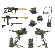Special box USCM MARINES Accessories and WEAPONS for Action Figures ALIEN Predator NECA