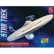 STAR TREK Modellino Kit ENTERPRISE NCC-1701 REFIT Scala 1:537 Originale AMT 1080