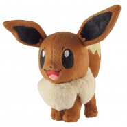 POKEMON EEVEE Open Eyes Plush 17cm (6.5'') ORIGINAL Tomy