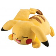 POKEMON PIKACHU Plush lying on the ground in rest position 20cm (8'') long ORIGINAL Tomy