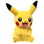 POKEMON PIKACHU Hnads Down Plush 20cm (8'') tall ORIGINAL Tomy