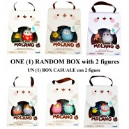 Box 2 FIGURE Collezione dal cartone animato MOLANG - Personaggi casuali Originali ROCCO GIOCATTOLI
