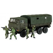 Plastic Model Kit Military JGSDF 3 1/2t TRUCK WITH ADDITIONAL ARMOUR w/6 figures Scale 1/72 AOSHIMA Japan