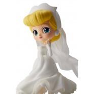 Figura Statuetta 14cm CENERENTOLA Vestito Bianco QPOSKET Banpresto DISNEY Cinderella Versione B
