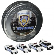 COLLECTOR SET 4 Modellini Auto NYPD Serie 5 Scala 1:64 Limited GREENLIGHT COLLECTIBLES HOLLYWOOD